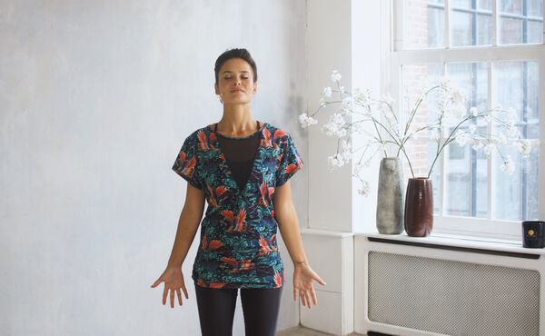 A grounding Vata yoga sequence