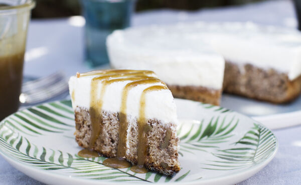A Treat for Father's Day: Banana Bread with Cheesecake Topping