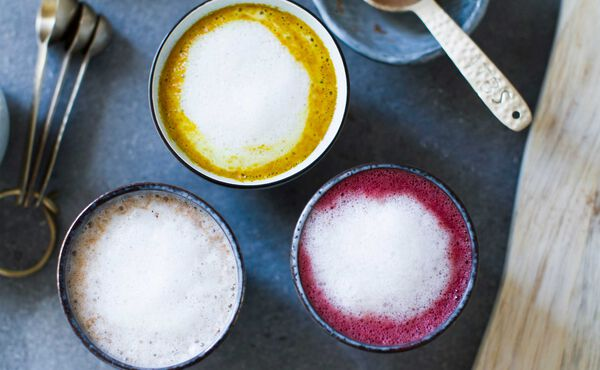 Warm up with a Golden Milk, beetroot & cocoa or chai latte