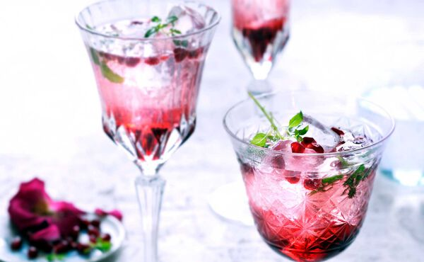 Drinks to cool down in the summer with pomegranate-basil tonic