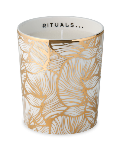 Luxury Candle Holder - Golden Leaves