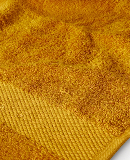 Super Smooth Bamboo Cotton Hand Towel 50x100cm Ocre Yellow