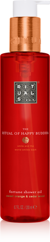 The Ritual of Happy Buddha Shower Oil