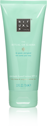 The Ritual of Karma Hand Lotion SPF 15
