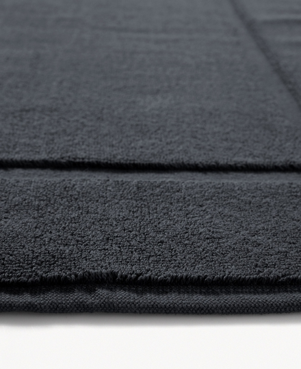 Super Smooth Cotton Bath Mat 70x120cm Charcoal Grey