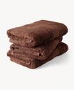 Super Smooth Bamboo Cotton Hand Towel 50x100cm Brique Brown