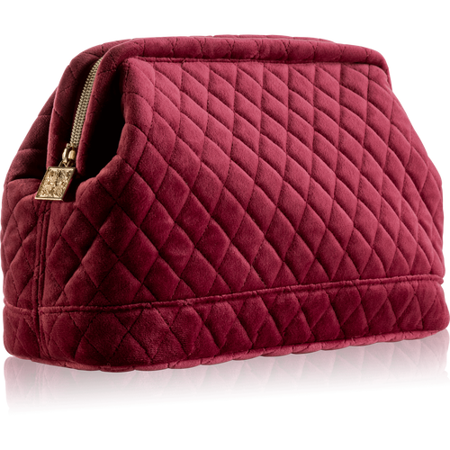 Luxury Travel Bag For Her- Velvet Burgundy