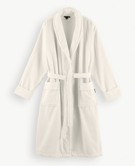 Super Smooth Cotton Bathrobe Men S Off White