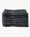 Super Smooth Bamboo Cotton Guest Towel 30x30cm Charcoal Grey