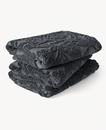 Paisley Sunfade Cotton Towel 70x140cm Charcoal Grey
