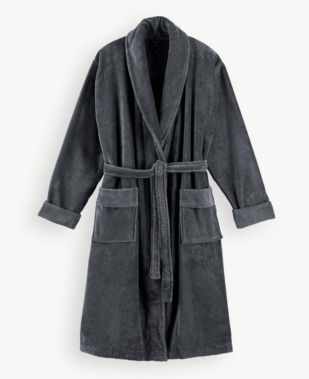 Super Smooth Cotton Bathrobe Men S Charcoal Grey