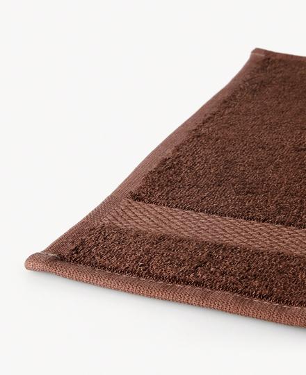 Super Smooth Bamboo Cotton Guest Towel 30x30cm Brique Brown