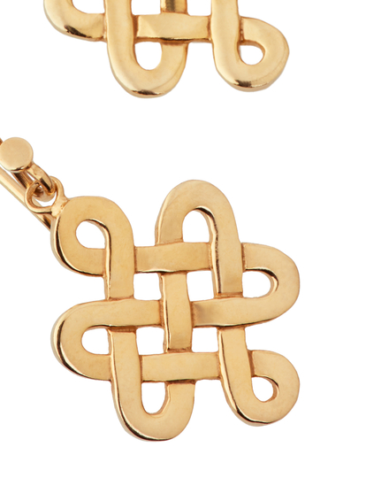 Infinity Pendant Earrings Gold Plated
