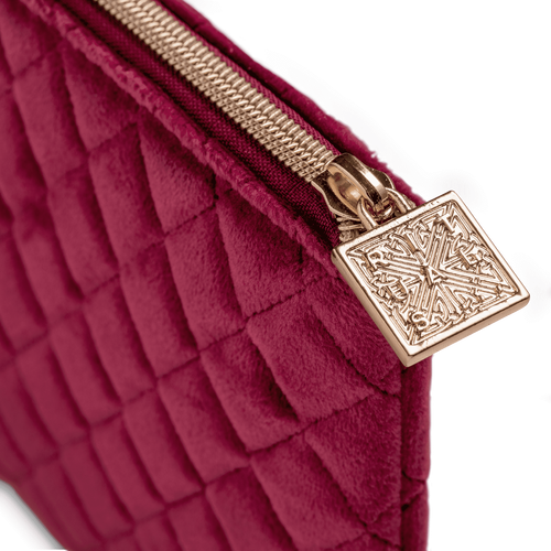 Make Up Bag - Velvet Burgundy