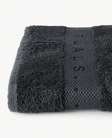Super Smooth Bamboo Cotton Bath Towel 70x140cm Charcoal Grey