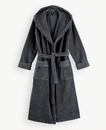 Super Smooth Cotton Bathrobe Women M Charcoal Grey