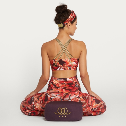 Meditation pillow - Dark grape