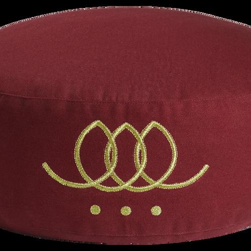 Round pillow - Ruby wine