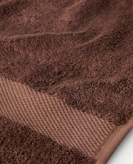 Super Smooth Bamboo Cotton Bath Towel 70x140cm Brique Brown