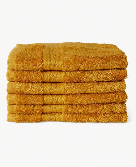 Super Smooth Bamboo Cotton Guest Towel 30x30cm Ocre Yellow