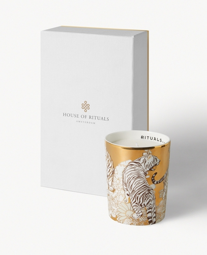 Luxury Candle Holder - White Tiger