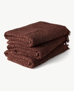 Graphic Design Cotton Towel 70x140cm Brique Brown