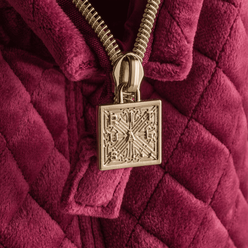 Luxury Travel Bag For Her- Velvet Burgundy