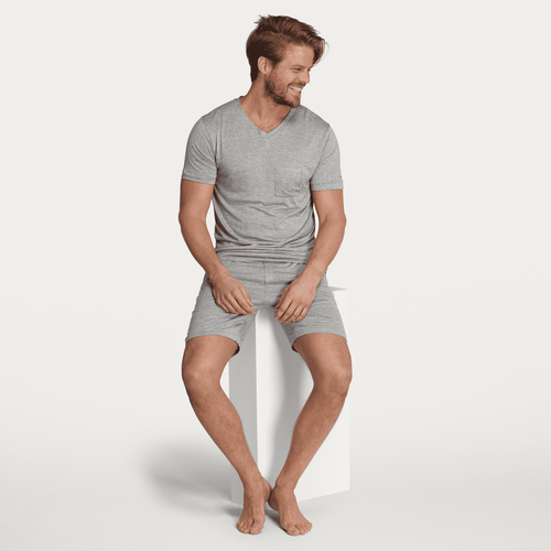 Samurai sleep set- Grey melange - L