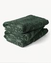 Paisley Sunfade Cotton Towel 70x140cm Moss Green