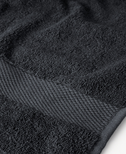 Super Smooth Bamboo Cotton Bath Towel 70x140cm Charcoal Grey