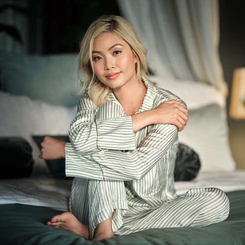 The Ritual of Jing Pyjama top - Green sheen -