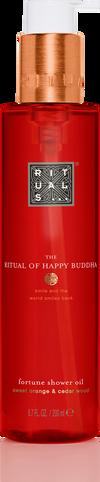 The Ritual of Happy Buddha Shower Oil
