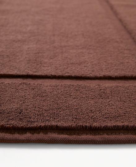 Super Smooth Cotton Bath Mat 70x120cm Brique Brown