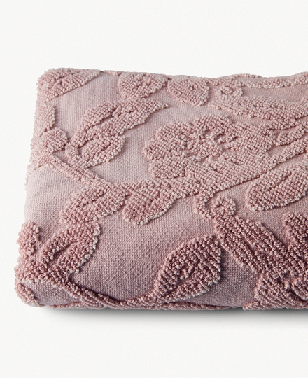 Paisley Sunfade Cotton Towel 70x140cm Powder Pink