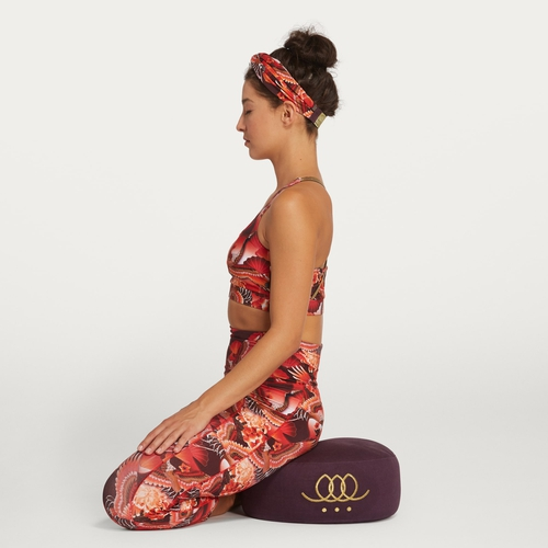 Meditation pillow - Dark grape -