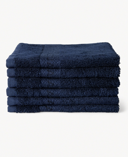 Super Smooth Bamboo Cotton Guest Towel 30x30cm China Blue