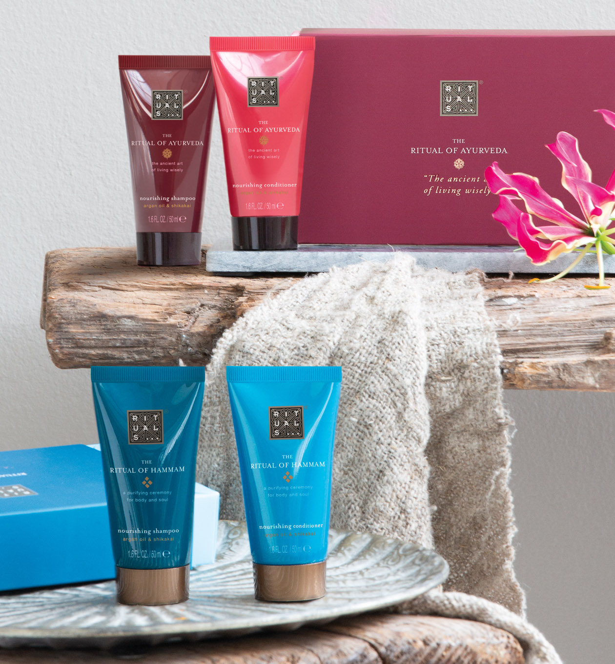 Shop to receive the sampoo & conditioner set for free